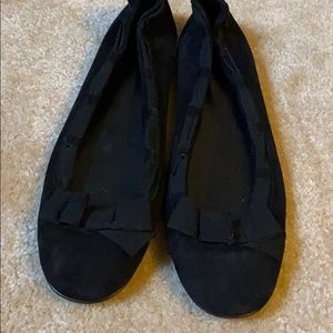 Brand new J. Crew black suede bow flats!